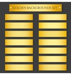 Golden Backgrounds set vector image vector image