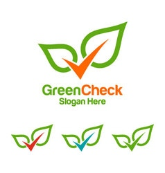 green check logo design vector image