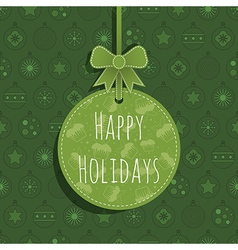Green christmas ornament vector