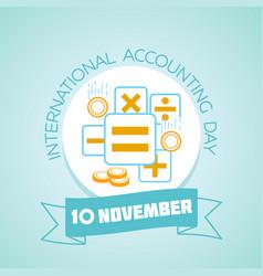 international accounting day vector image vector image