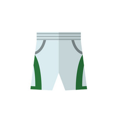 Isolated shorts flat icon trunks cloth vector