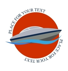 Logo boat vector