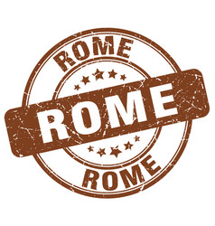 Rome brown grunge round vintage rubber stamp vector