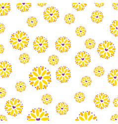 seamless pattern flower flora petal decoration vector image