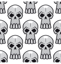 Seamless pattern of angry stylized skulls vector image vector image