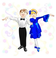small elegant dancers vector image