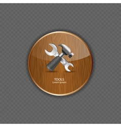 Tools wood application icons vector image