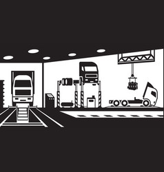 Truck service and maintenance vector