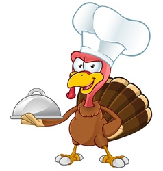 Turkey Mascot Chef vector image vector image