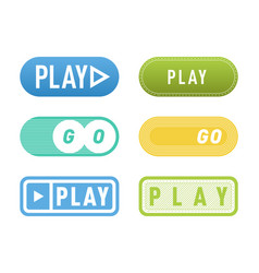 Ui interface button play media internet isolated vector