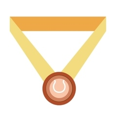 Isolated sport medal vector