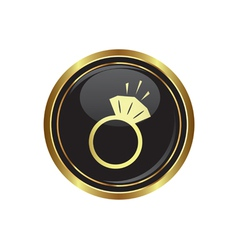 Ring icon vector