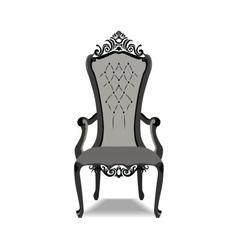 Elegant baroque ornamented luxury armchair vector