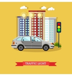 Traffic light concept  flat vector