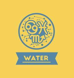 flat icon element zodiacal water vector image