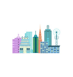 Urban cityscape isolated icon vector