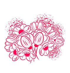 Bouquet of flowers for a postcard vector