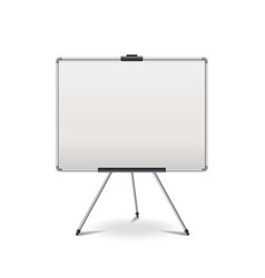 Empty whiteboard isolated vector