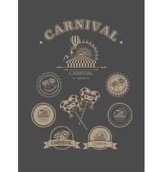 Carnival vintage badges vector