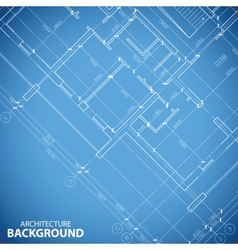 Blueprint building plan background vector