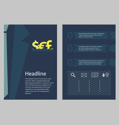 Brochure business concept style vector