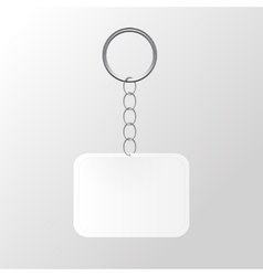 Template keychain keys on a ring with a chain vector