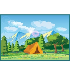 picturesque meadows vector image