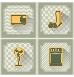 Seamless background with home technics vector