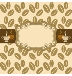 Light background with coffee beans vignette with vector