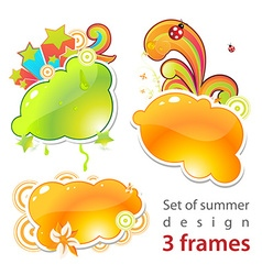 Fresh summer set vector