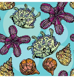 Shells seamless 380 vector
