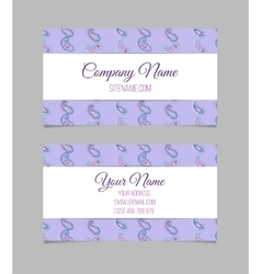 Business card template asian paisley vector