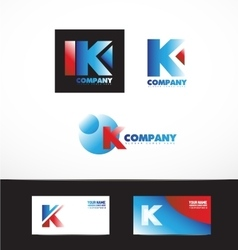 Letter k logo icon set vector