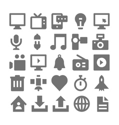 Advertising and media icons 1 vector