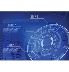 Blue techno infographics vector
