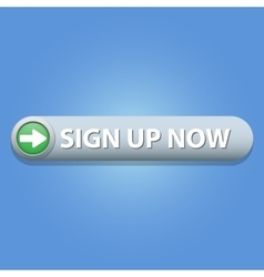 Sign up button vector