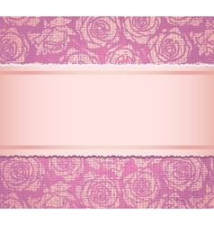 Pink invitation card vector image