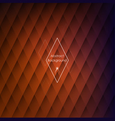 abstract rhombic orange background vector image vector image