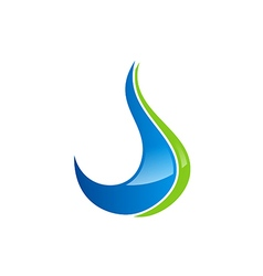 abstract water drop ecology logo vector image vector image