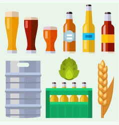 alcohol beer ale glass vector image vector image