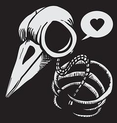 Bird bones vector