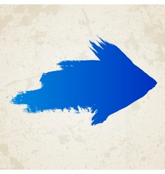 Blue grunge arrow vector image