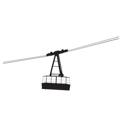 Cable car silhouette vector image vector image
