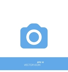 Camera icon in flat style isolated on white vector image vector image