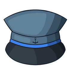 captain hat icon cartoon style vector image