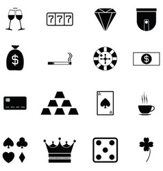 Casino icon set vector