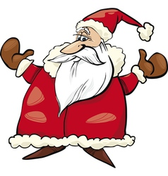 cheerful santa claus vector image vector image