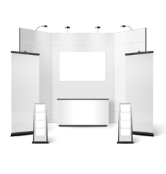 Exhibition Stand Blank Design vector image vector image