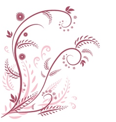 flora graphic background vector image vector image