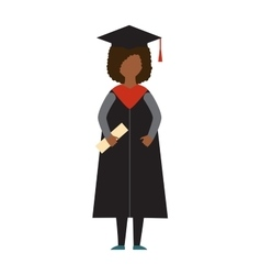 Graduation education people successful vector image vector image